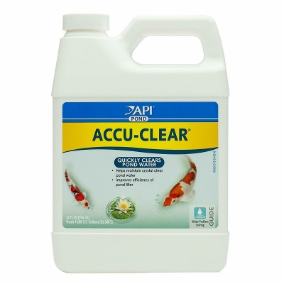 api pond accu-clear quickly clears pond water