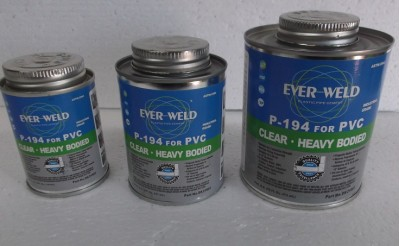 ever weld p-194 solvent weld glue, pipe cement