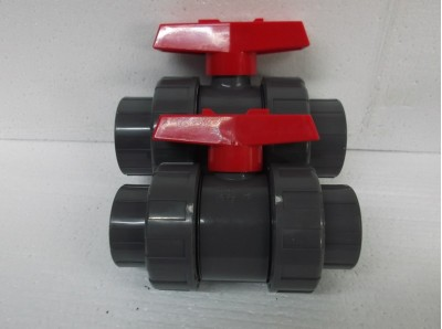 pressure double union ball valve red handle