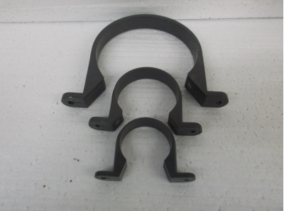 pressure pipe wall clips u shaped grey